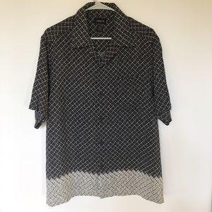 Claiborne Men's Black & Gray Shirt Sz M